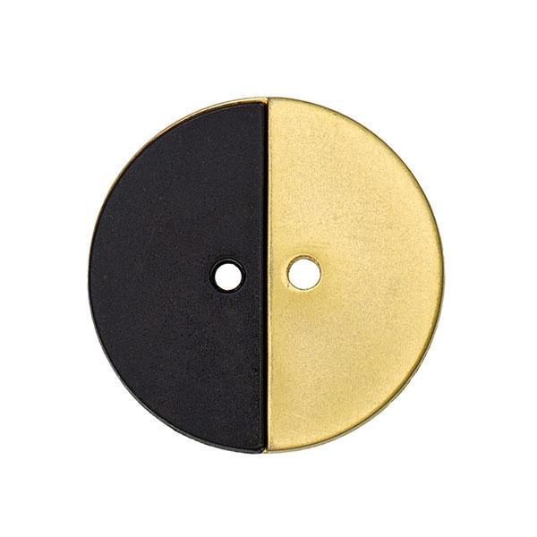 Mantelknopf Twin 5 - gold/schwarz