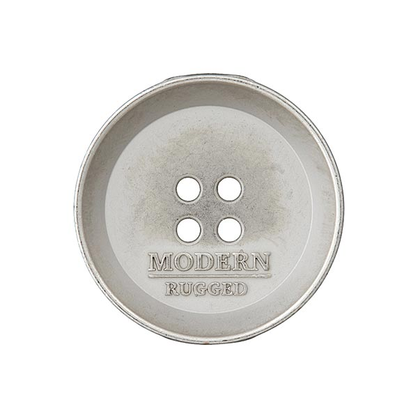 Metallknopf MODERN - silber