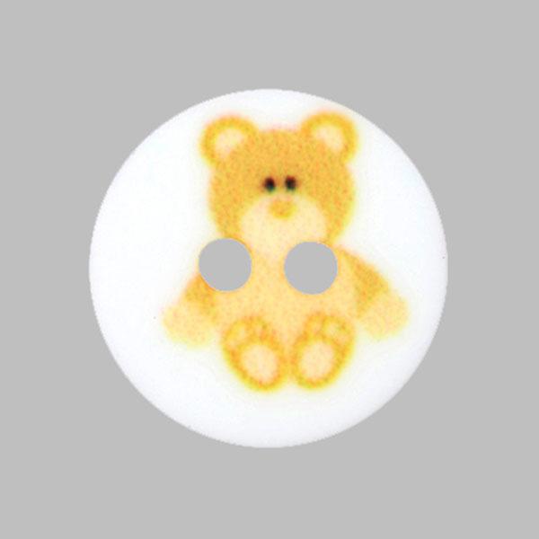 Kunststoffknopf Bärchen – gelb