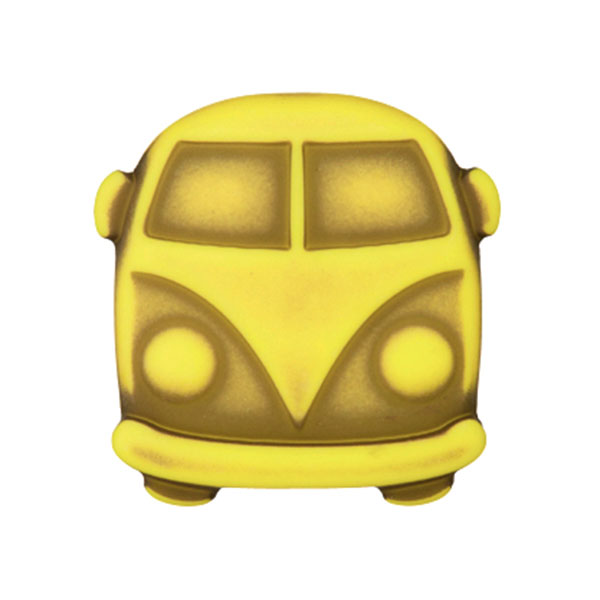 Kunststoffknopf Bulli Sina – gelb