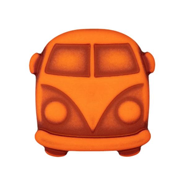 Kunststoffknopf Bulli Sina – orange