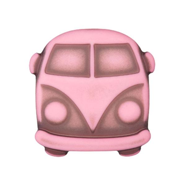 Kunststoffknopf Bulli Sina – rosa