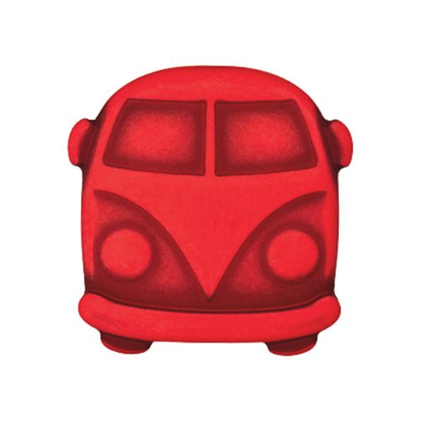 Kunststoffknopf Bulli Sina – rot