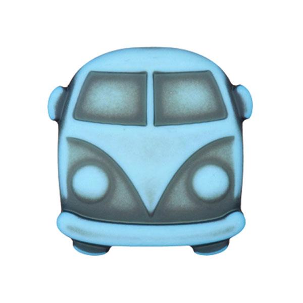 Kunststoffknopf Bulli Sina – hellblau