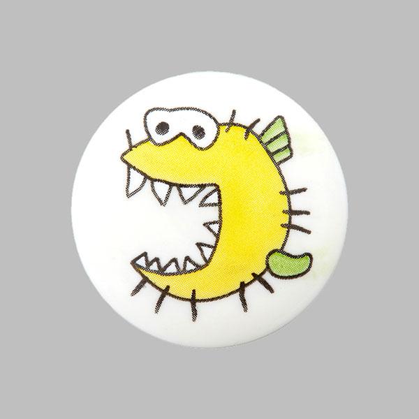 Kunststoffknopf Monster 1 - weiss