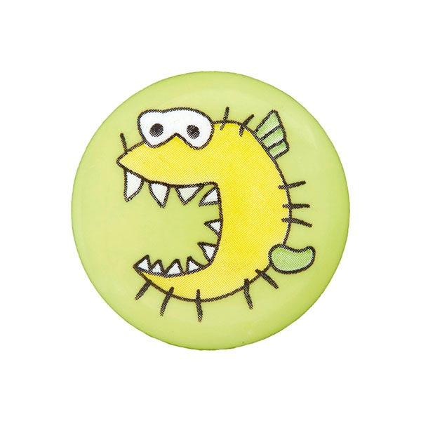 Kunststoffknopf Monster 3 - hellgrün