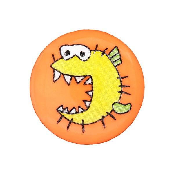 Kunststoffknopf Monster 5 - orange