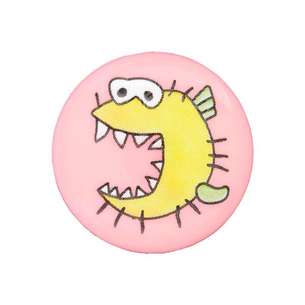 Kunststoffknopf Monster 6 - rosa