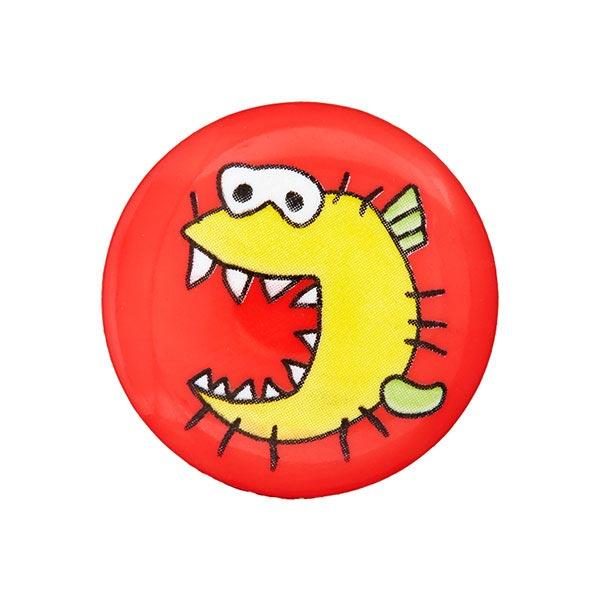 Kunststoffknopf Monster 7 - rot