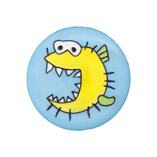 Kunststoffknopf Monster 9 - hellblau