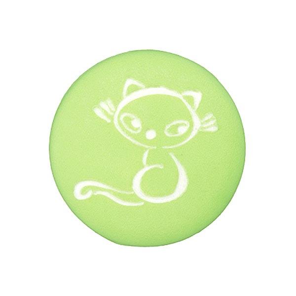 Polyesterknopf Katze 2 – hellgrün