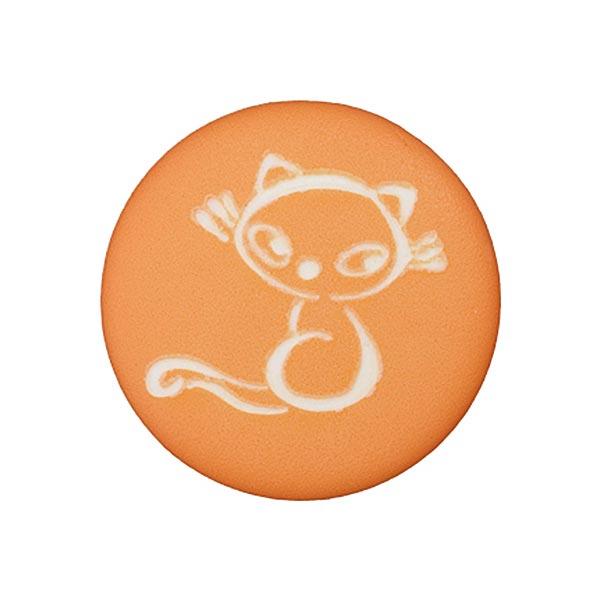 Polyesterknopf Katze 4 – orange