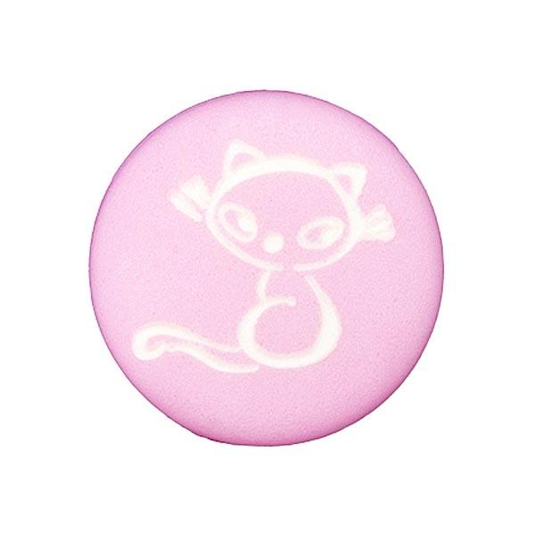 Polyesterknopf Katze 5 – rosa