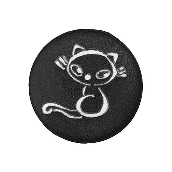 Polyesterknopf mit Katzenmotiv