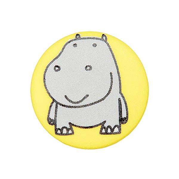 Polyesterknopf Nilpferd 5 – gelb