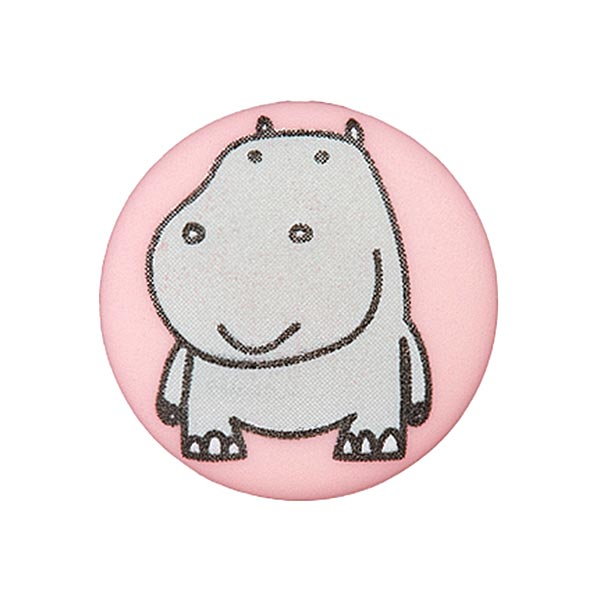 Polyesterknopf Nilpferd 7 – rosa