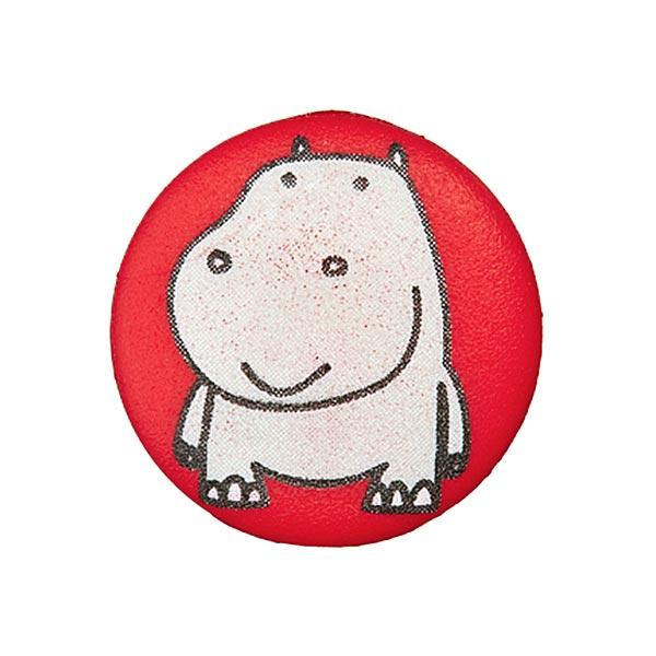 Polyesterknopf Nilpferd 8 - rot