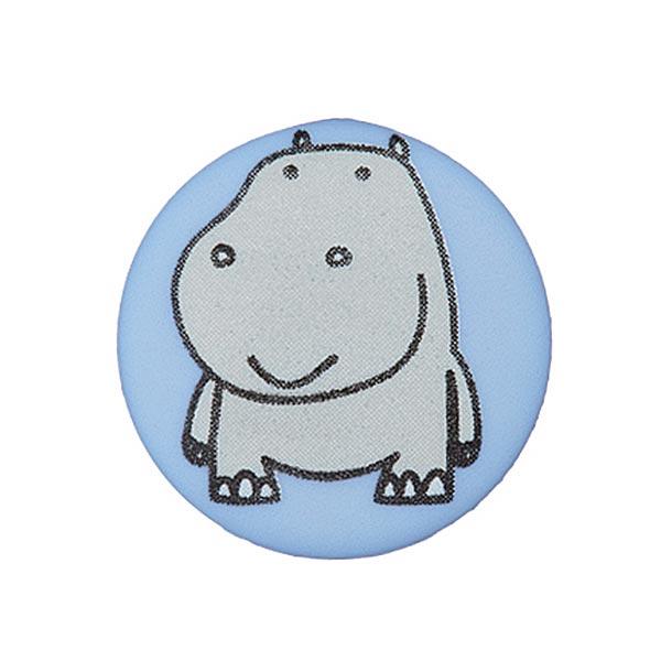 Polyesterknopf Nilpferd 11 - hellblau