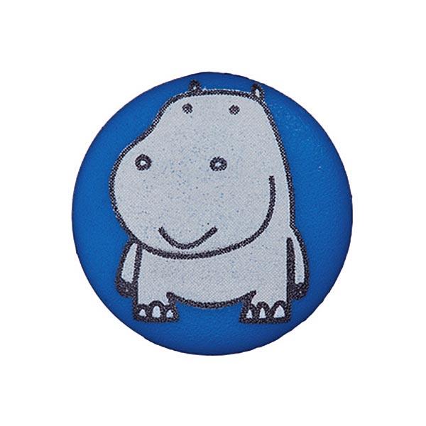 Polyesterknopf Nilpferd 12 - königsblau