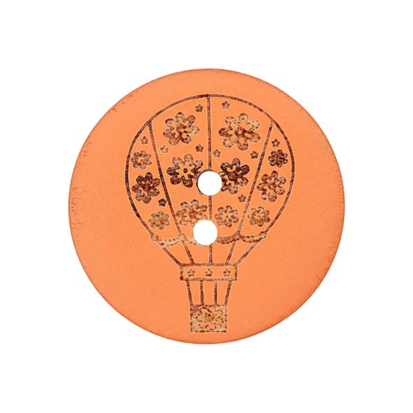 Holzknopf Ballon – orange