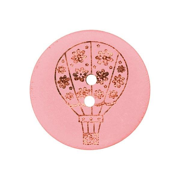 Holzknopf Ballon – rosa