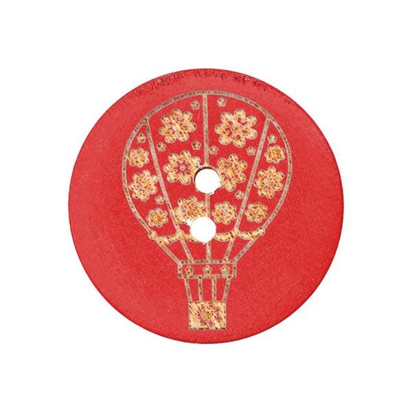 Holzknopf Ballon – rot