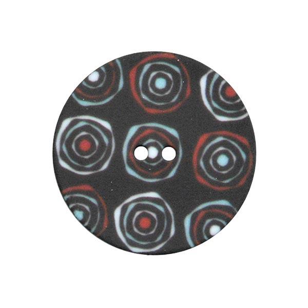 Polyknopf Retro 4 – schwarz