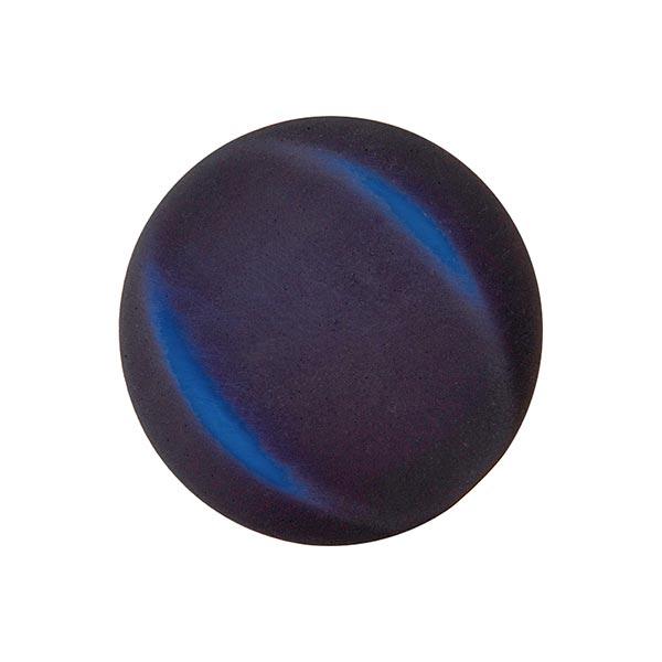 Polyesterknopf - FAKE SAMT - marineblau