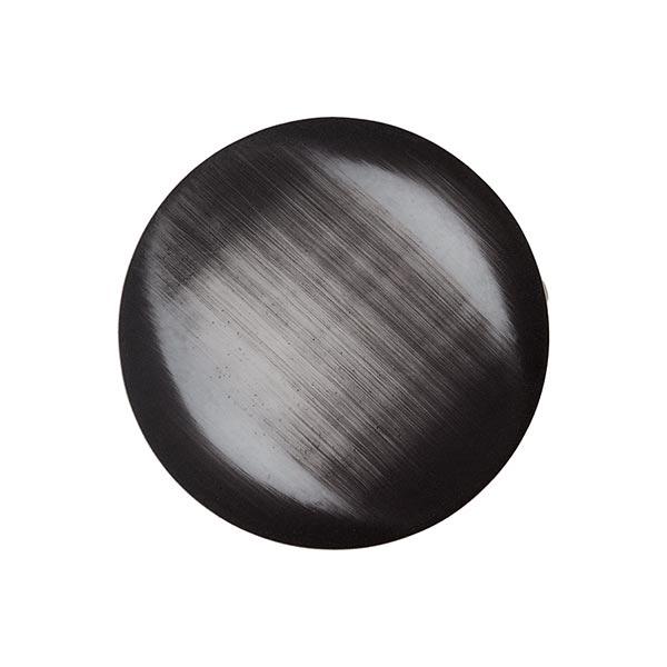 Polyesterknopf - FAKE SAMT - dunkelgrau