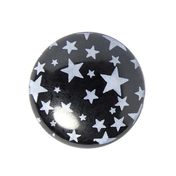 Polyknopf Sterne 2 - schwarz