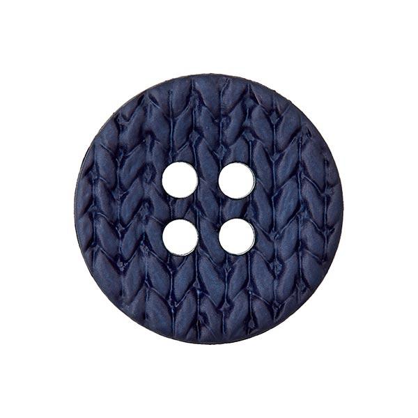 Polyamidknopf Strick - marineblau