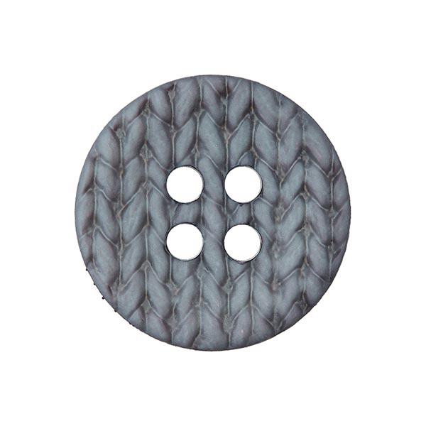 Polyamidknopf Strick - grau