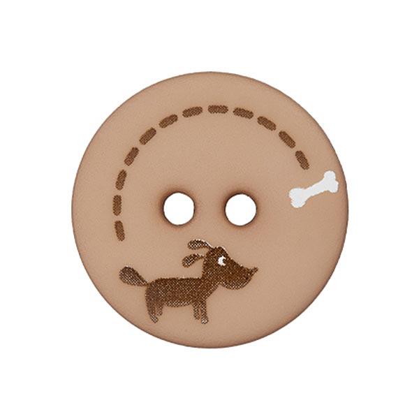 Polyesterknopf Hund & Knochen 1