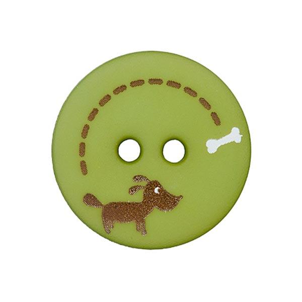 Polyesterknopf Hund & Knochen 2