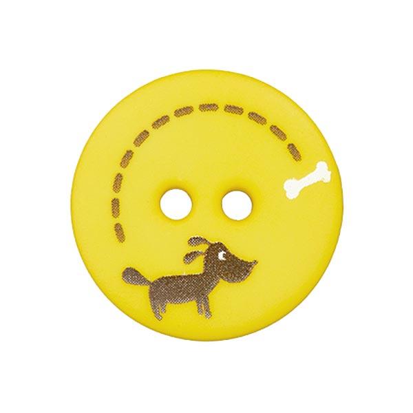 Polyesterknopf Hund & Knochen 3