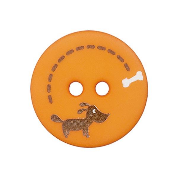 Polyesterknopf Hund & Knochen 4