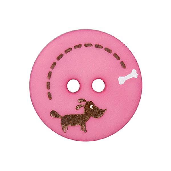 Polyesterknopf Hund & Knochen 5