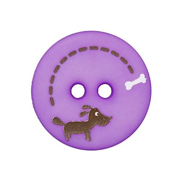 Polyesterknopf Hund & Knochen 7