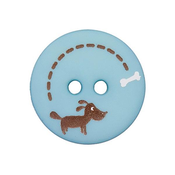 Polyesterknopf Hund & Knochen 8