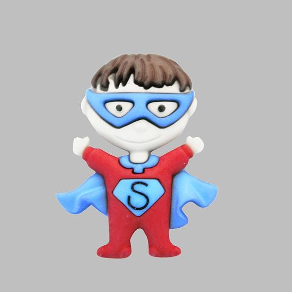 Polyesterknopf mit Öse – Super Boy