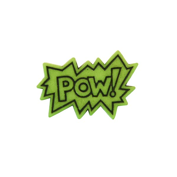 Polyesterknopf POW! 2 - grün