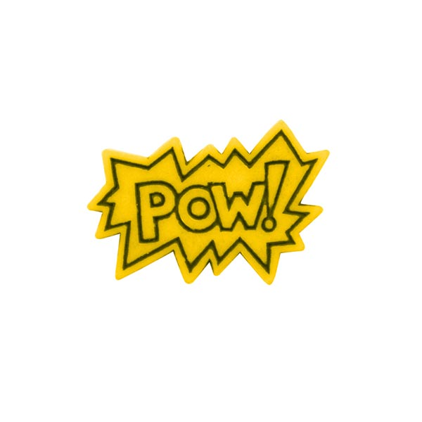 Polyesterknopf POW! 3 - gelb