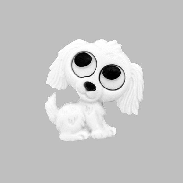Kinderösenknopf 'Hund' aus Polyester