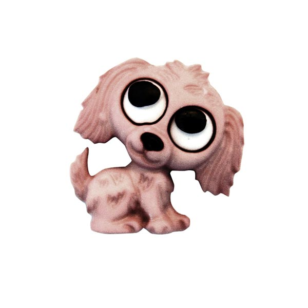 Polyesterknopf Hund Öse - altrosa