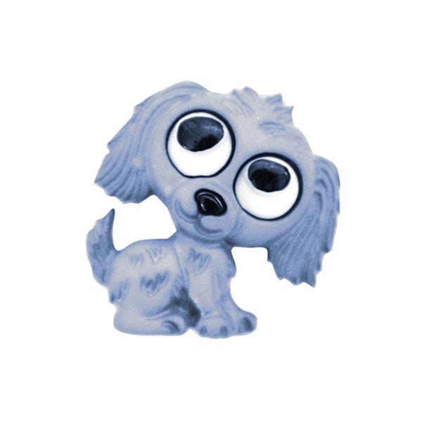 Polyesterknopf Hund Öse - hellblau