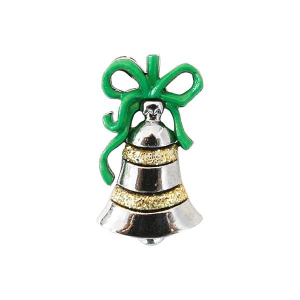 Weihnachtsknopf Weihnachtskugel - silber/grün