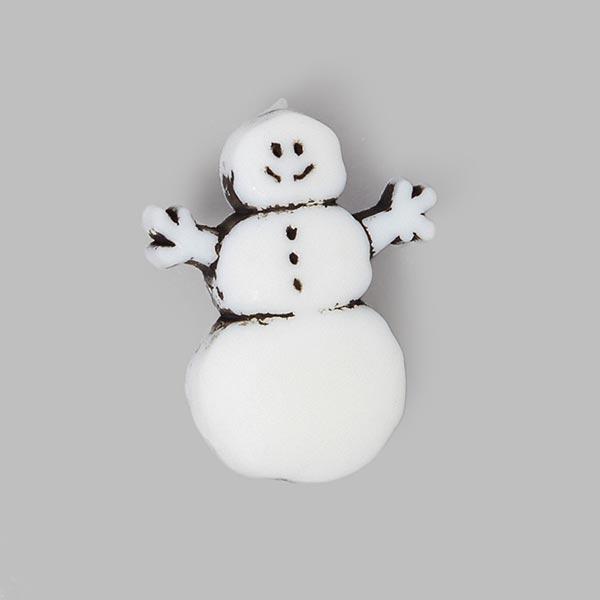 Weihnachtsknopf 'Schneemann'