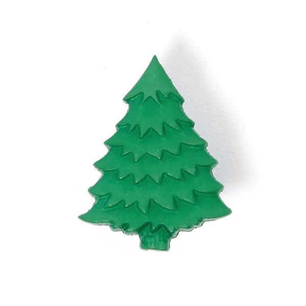 Weihnachtsknopf Tannenbaum - grün