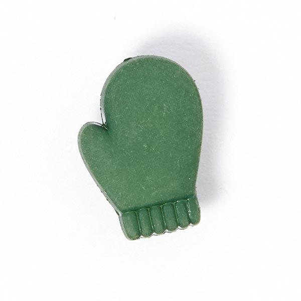 Weihnachtsknopf Handschuh - grün