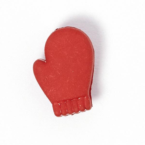 Weihnachtsknopf Handschuh - rot